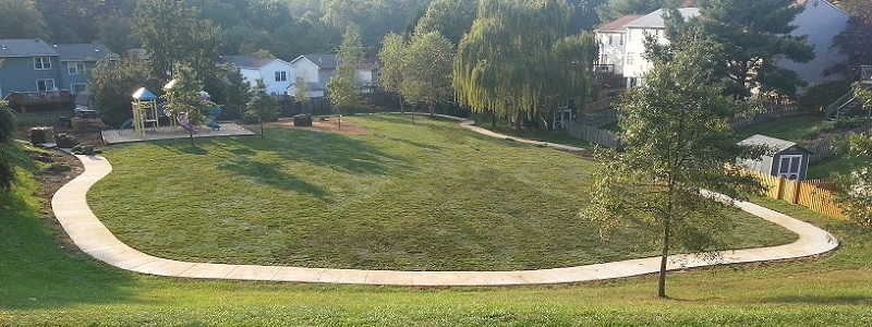 The newly renovated Meadow playground. Includes 1/8 mile track, playground and open sports field.