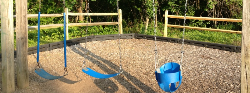 Enjoy the swings at the playground.